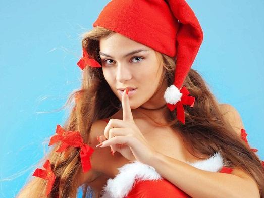 фото девушек в новогодних колпаках обнаженных