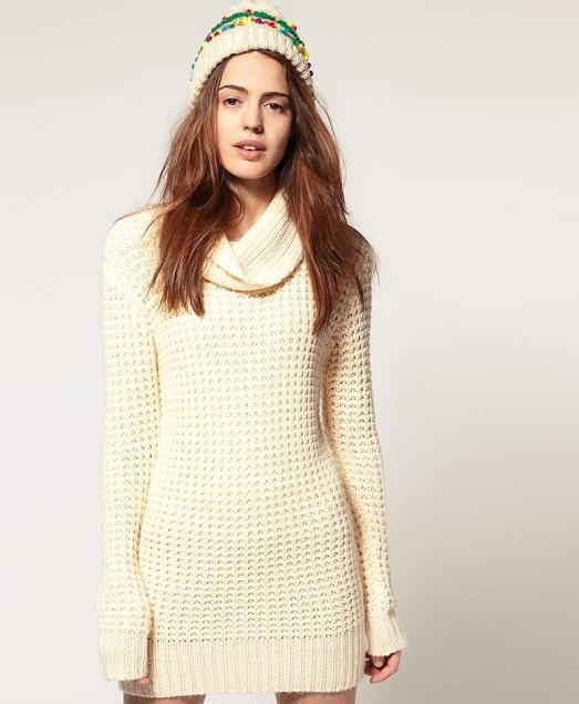 Вязаные зимние платья фото