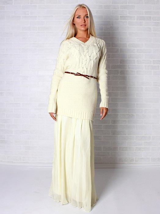 Длинное платье из мотивов вязаное крючком. Красивое платье крючком