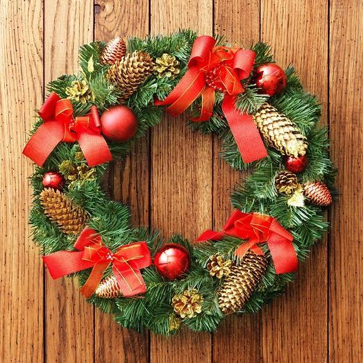 Как сделать своими руками венок рождественский