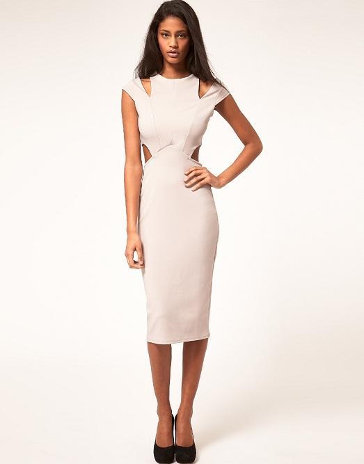 Купить платье белое строгое