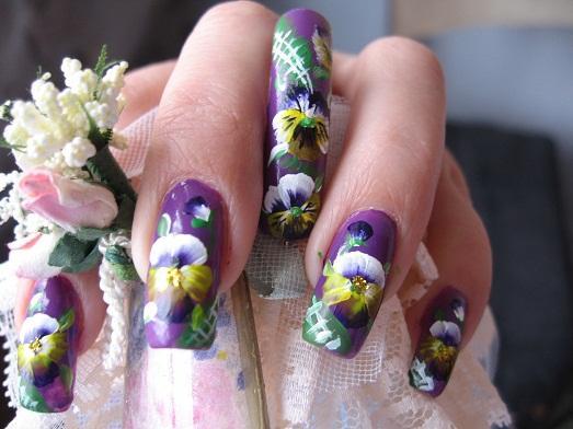 красивые рисункин на ногтях фото
