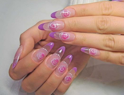 красками рисунки на ногтях фото