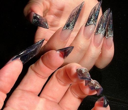 Фото дизайн ногтей длинных острых