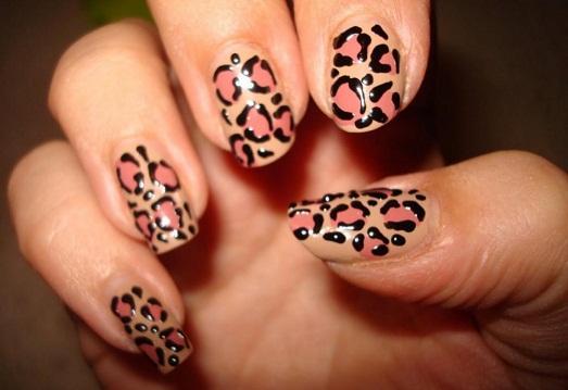леопардовый принд в дизайне ногтей фото