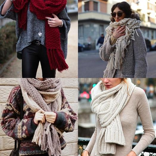 Как стильно завязывать большой шарф? Несколько оригинальных вариантов