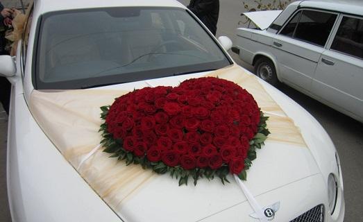 Как крепить украшение на свадебную машину