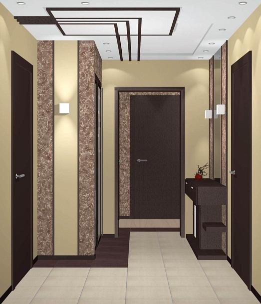 Интересный варинат дизайна коридора