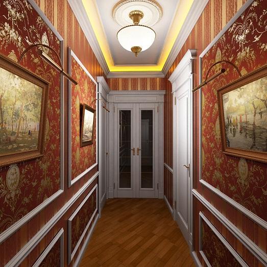 Классический дизайн коридора фото