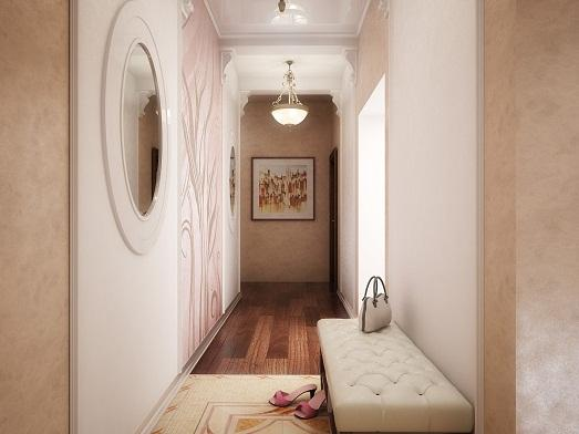 Стильный дизайн коридора фото