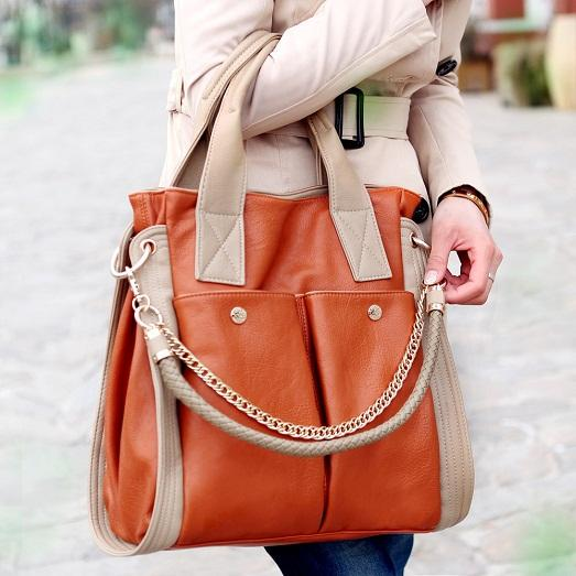 Bright variants of autumn bags photo