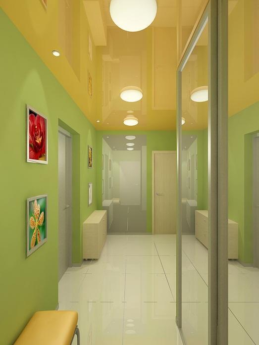 Яркий и зеркальный коридор фото
