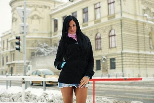 мини юбка зимой - это слишком