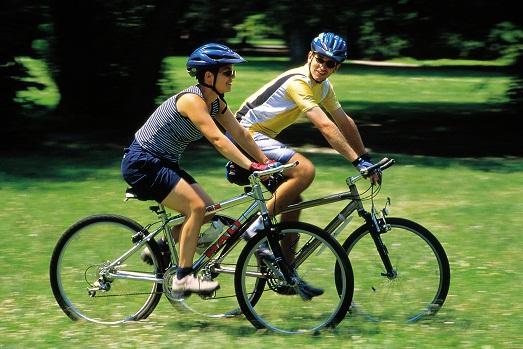 Поездки на велосипеде очень полезны