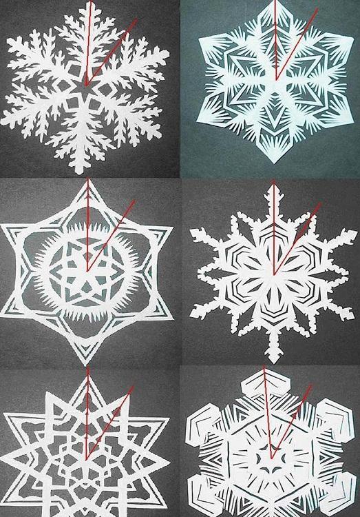 Снежинки из бумаги своими руками как складывать