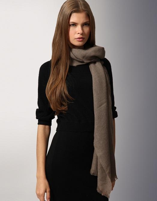 Как правильно носить шарф с курткой, пальто, шубой? (15 фото)