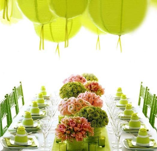 Оформите зал в соответствующих цветах