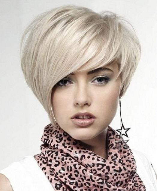 She is perfect for a short hairstyle.