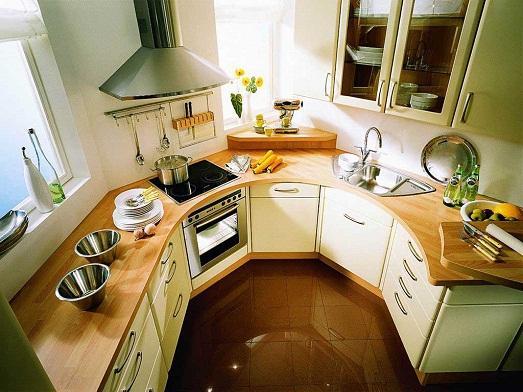 Такую кухню сможет установить только специалист