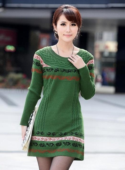 Теплые и красивые шерстяные платья (16 фото)