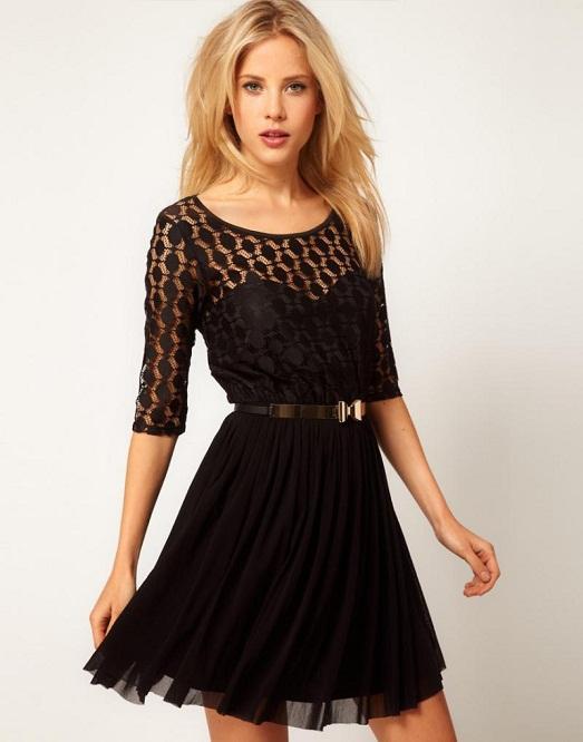 Вариантов черного платьица очень много