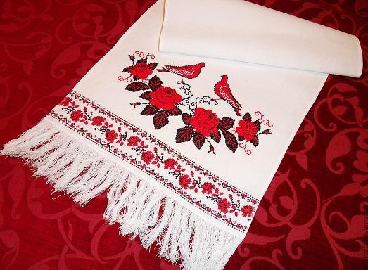 Сделать свадебный рушник своими руками