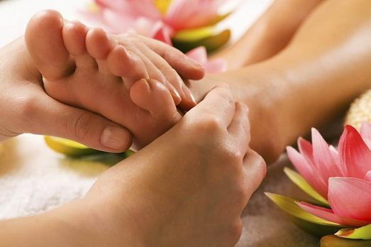 Massage perfectly affects the condition of the feet.