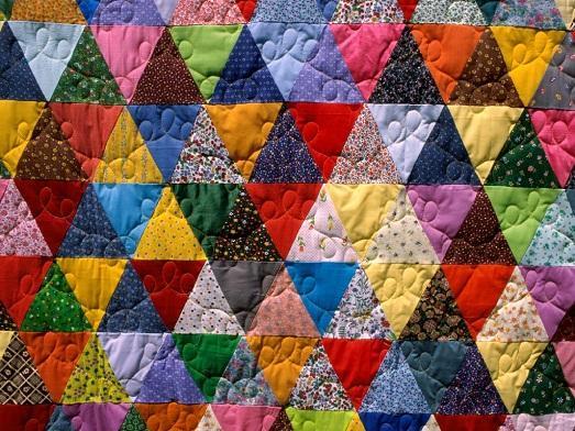The main multi-colored shreds
