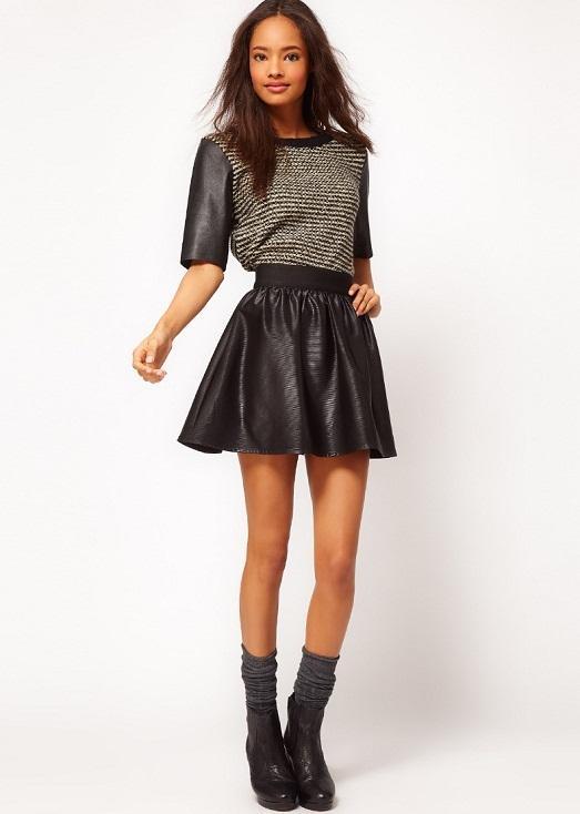 Удлинить короткую кожаную юбку