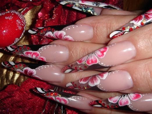 рисунки китайская роспись на ногтях фото