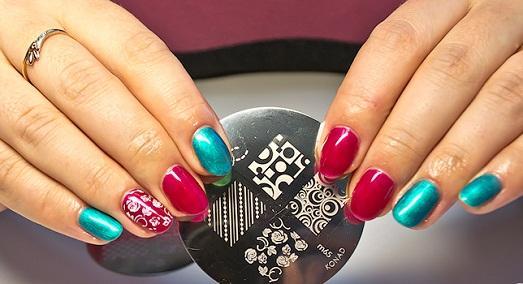 Как сделать рисунок штампом на ногтях