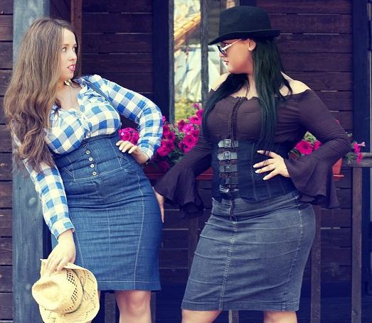 Выбираем правильные юбки для полных женщин (9 фото)