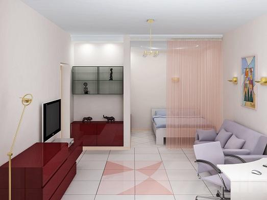 Однокомнатная квартира – используем пространство по максимуму