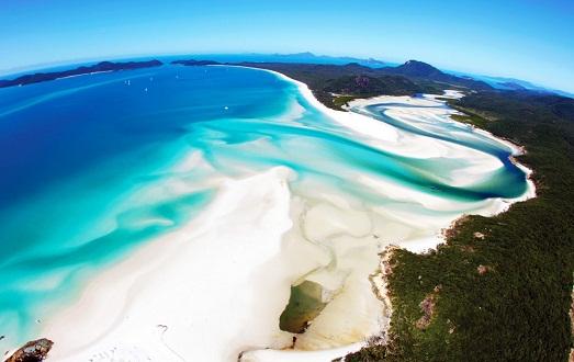 Пляж Уайтхэвен бич в Австралии