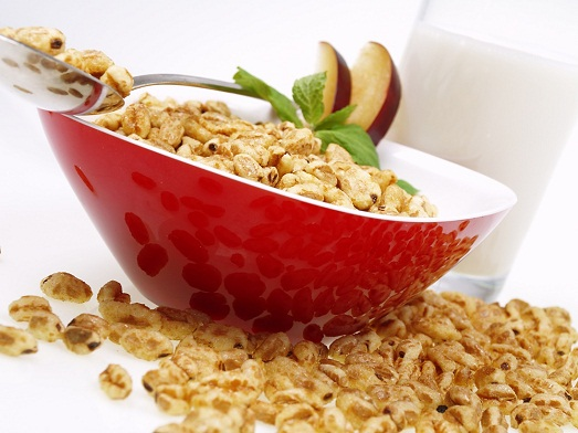 With fruit and nuts delicious