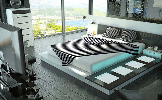 Спальня с шикарным видом