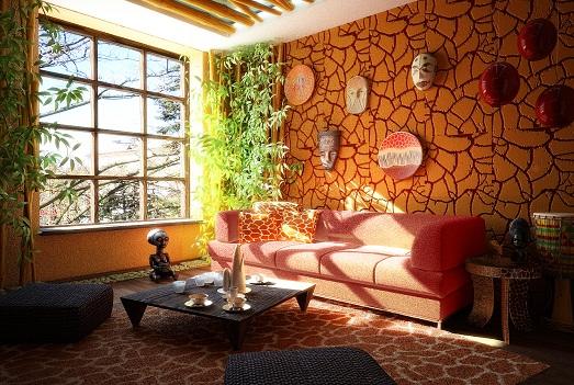 Африканский стиль в интерьере нашей квартиры (10 фото)