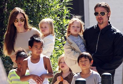 Семья Бреда и Анджелины