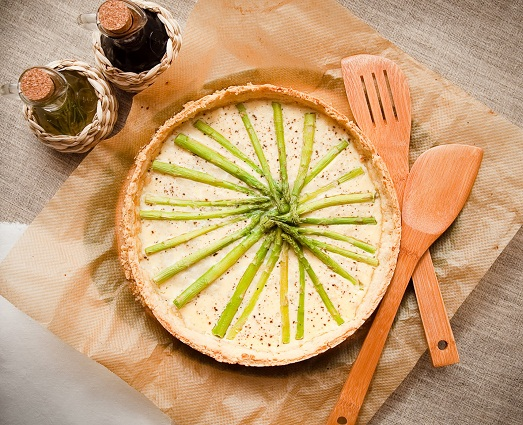 With asparagus