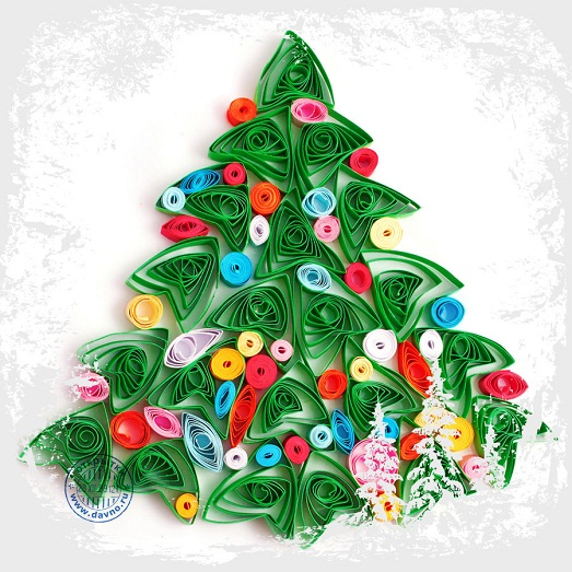 Красивые открытки своими руками на Рождество