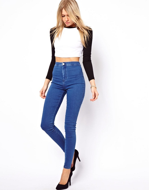 With jeans