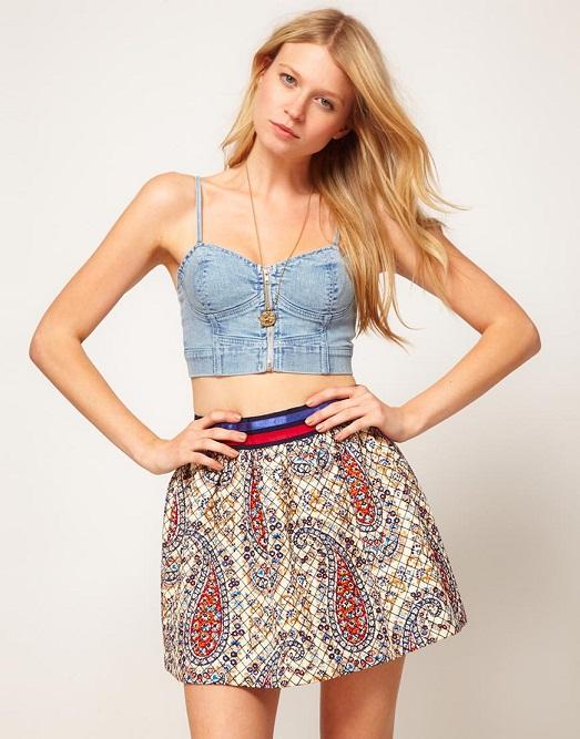 Стильная юбка и топ