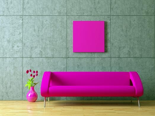 Как можно использовать розовый в интерьере? (14 фото)
