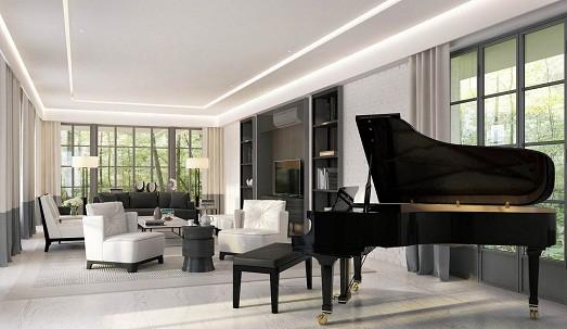 Гостиная с пианино дизайн 174