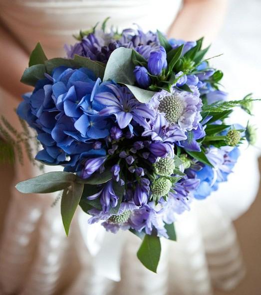 Цветы для букета синего цвета
