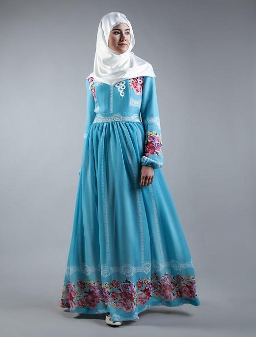 Красивые мусульманские платья для никаха