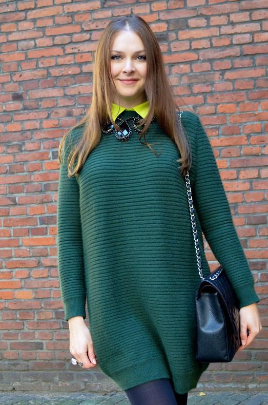 Платье свитер крупной вязки женский