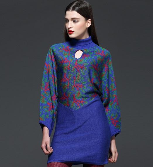 С чем носить ультрамодное платье-свитер? (15 фото)