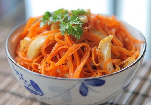 как приготовить из моркови вкусную закуску