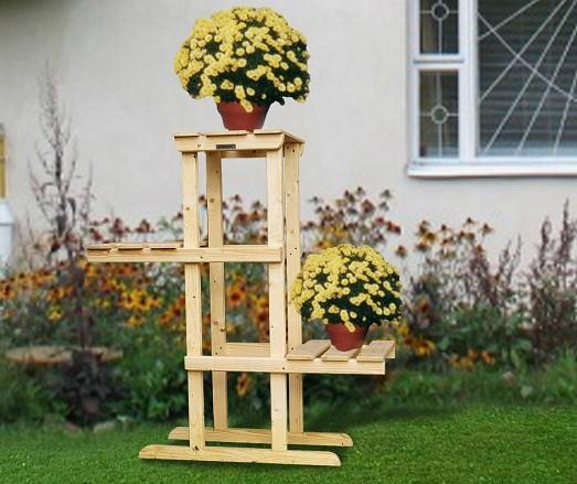 полки для цветов напольные из дерева фото